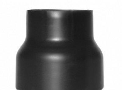 Rauchrohr / Ofenrohr Reduzierung 130mm - 120mm schwarz