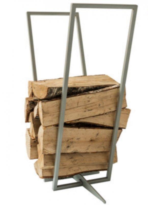 Kamin-Holz-Regal silber