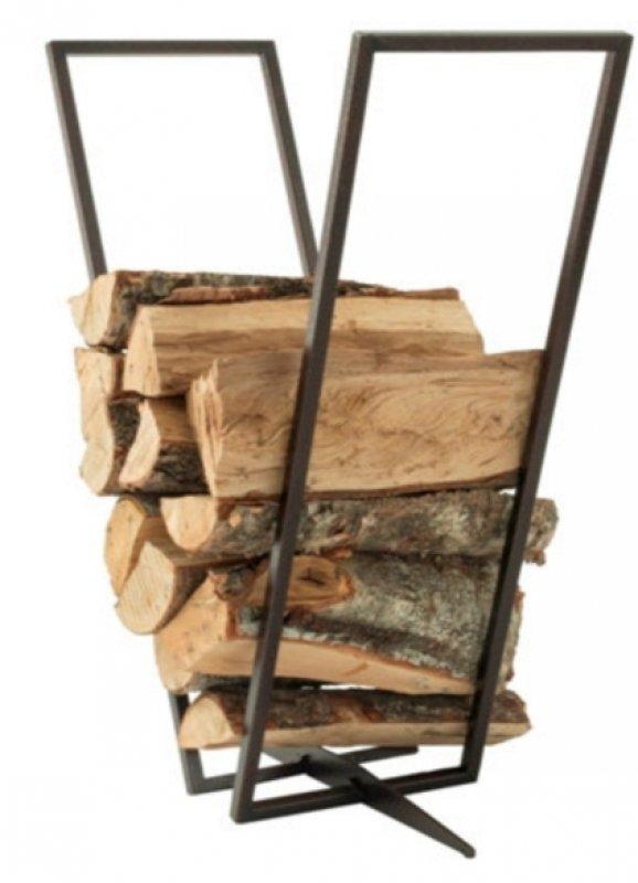 Kamin-Holz-Regal kupferfarben
