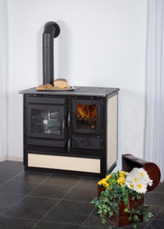 Globe Fire Alhena creme Küchenherd Gussherd