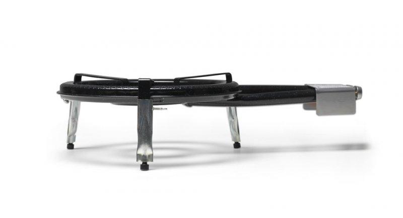 Set 1: Flames VLC Gasbrenner T-380/ Füsse kurz/ Paellapfanne 40 cm