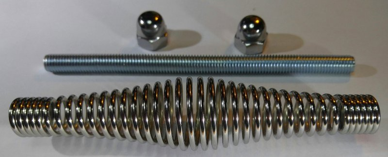 Spiralgriff für Smoker - Grill - Kaminöfen