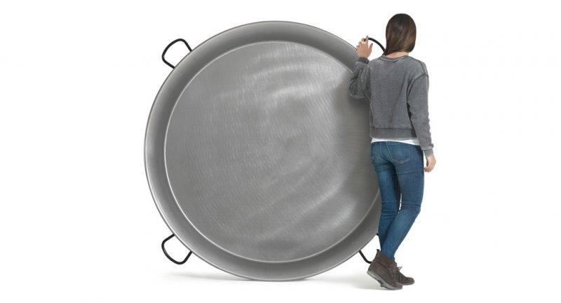 Paellapfanne ´*Gigante* aus aus poliertem Stahl Stahl D 160 cm