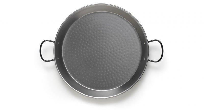 Paellapfanne aus  Stahl poliert Durchmesser 34 cm