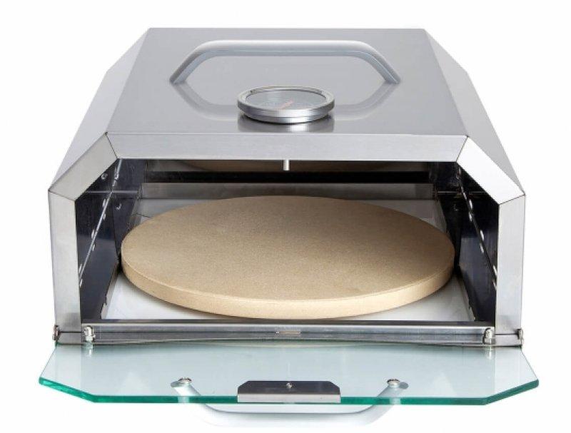 Pizzabox eckig - für jeden Gasgrill mit Seitenbrenner